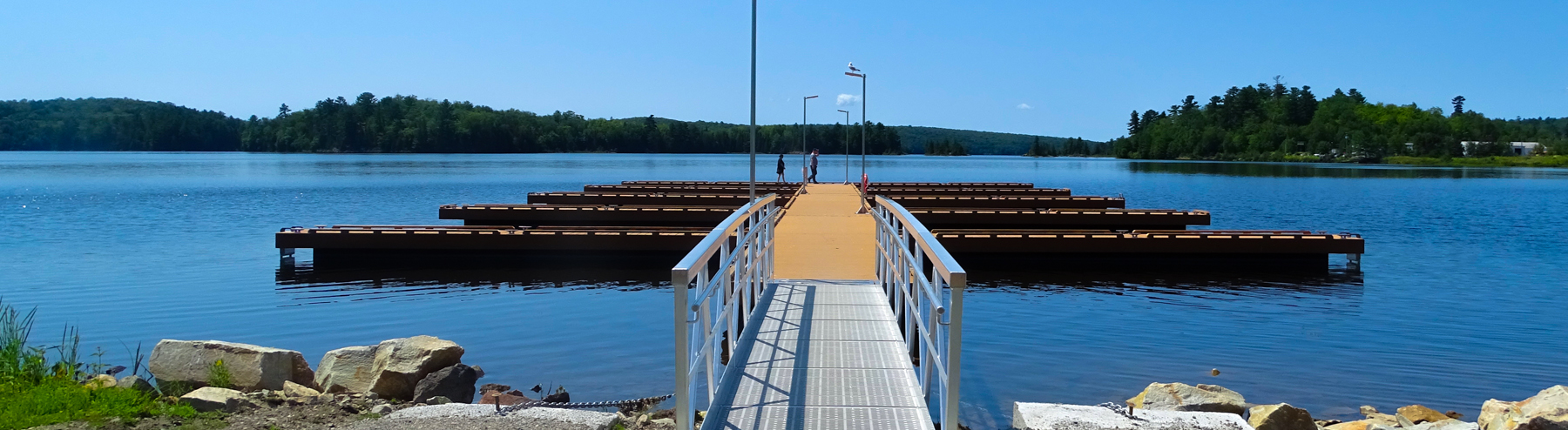 boat launch and boardwalk